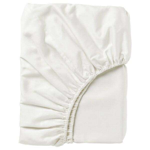 NATTJASMIN ملاءه تثبيت, أبيض, 160x200 سم