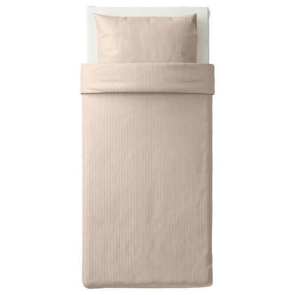 NATTJASMIN غطاء لحاف/مخدة, بيج فاتح, 150x200/50x80 سم