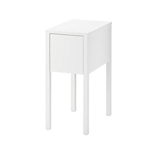 NORDLI Bedside table, white