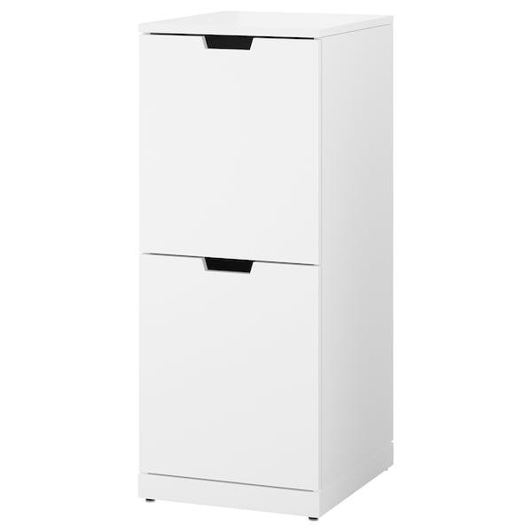 NORDLI Chest of 2 drawers, white, 40x99 cm