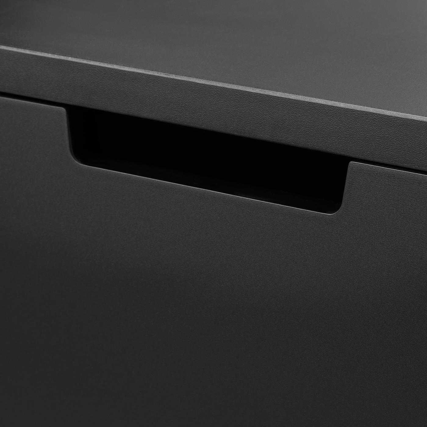 NORDLI Chest of 3 drawers, anthracite, 40x76 cm