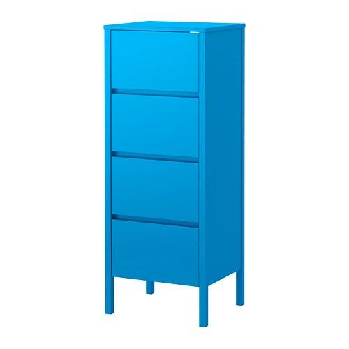 NORDLI Chest of 4 drawers, blue