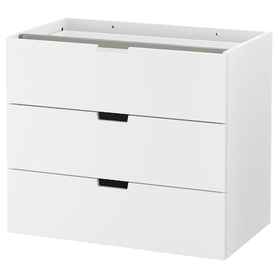 NORDLI Modular chest of 3 drawers, white, 80x68 cm