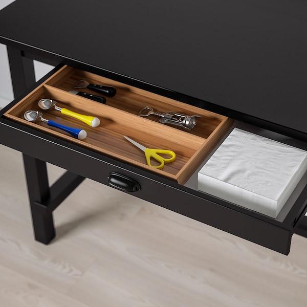 NORDVIKEN طاولة مرتفعة, أسود, 140x80x105 سم