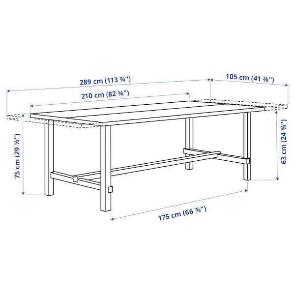 NORDVIKEN Extendable table, white, 210/289x105 cm