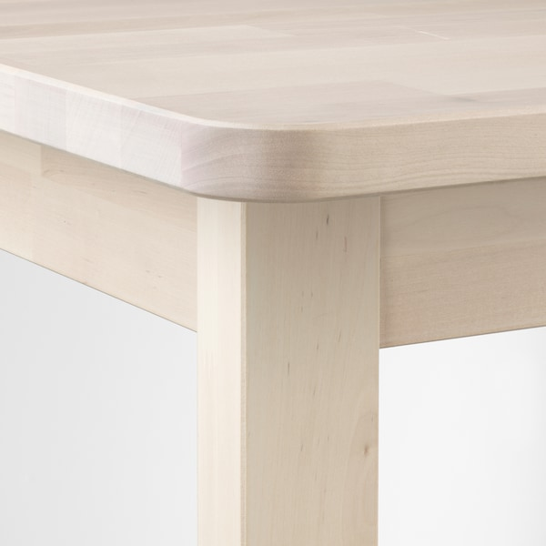 NORRÅKER طاولة مرتفعة, بتولا, 74x74x102 سم