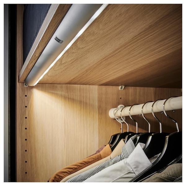 NORRFLY LED lighting strip, aluminium-colour, 55 cm