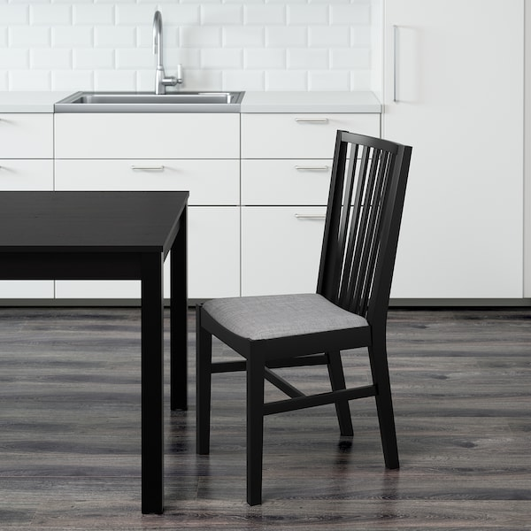 NORRNÄS chair black/Isunda grey 110 kg 42 cm 53 cm 95 cm 42 cm 40 cm 46 cm