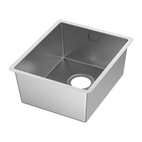 NORRSJÖN Inset sink, 1 bowl, stainless steel