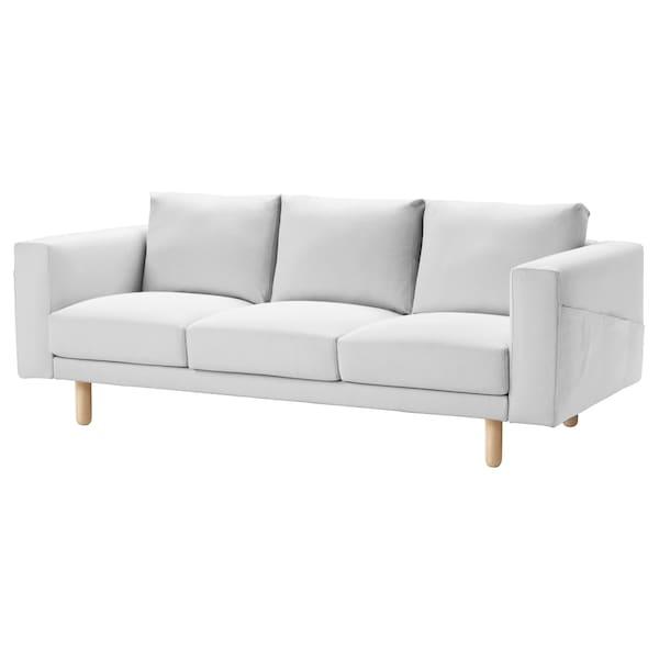 NORSBORG Cover for 3-seat sofa, Finnsta white