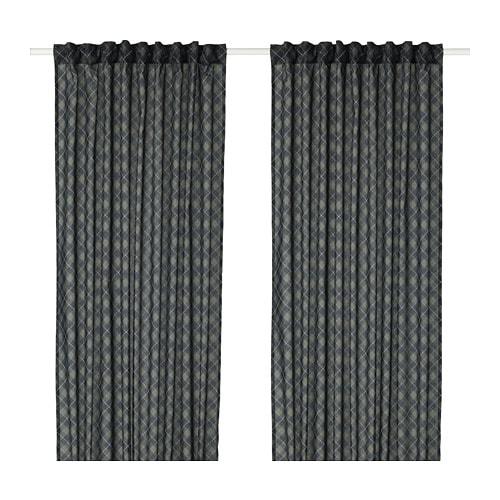 NOVEMBERLJUS Curtains, 1 pair, green
