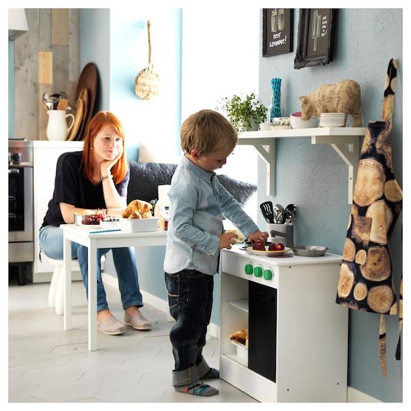 NYBAKAD مطبخ أطفال بباب منزلق, أبيض, 49x30x50 سم