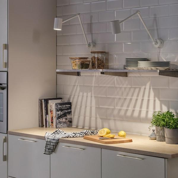 NYMÅNE Work/wall lamp, white