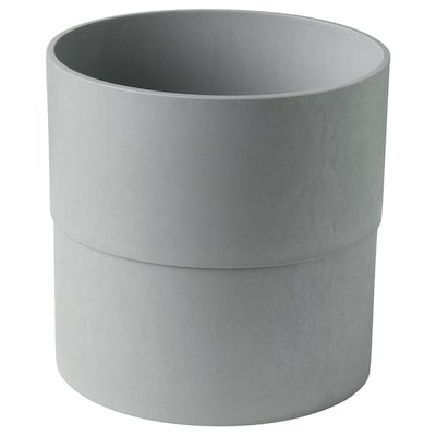 NYPON Plant pot, in/outdoor grey, 24 cm