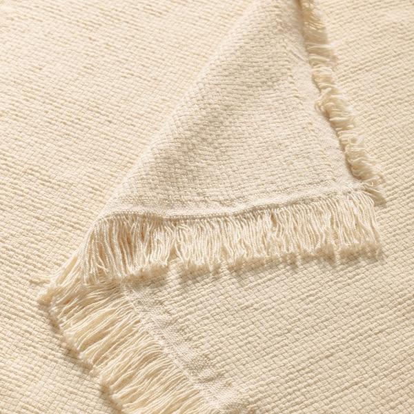 ODDRUN Throw, natural colour/beige, 130x170 cm