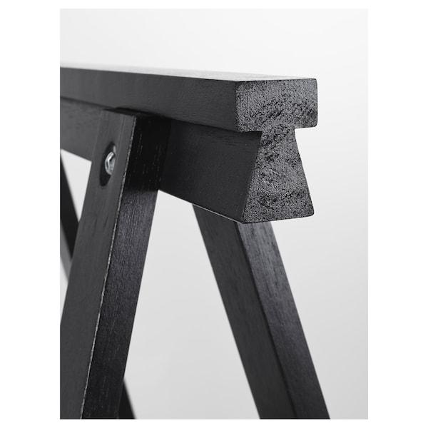 ODDVALD منصة, أسود, 70x70 سم