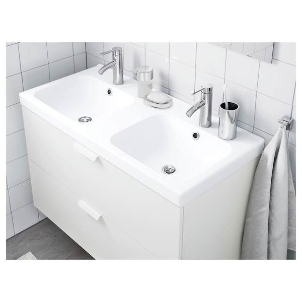 ODENSVIK Double wash-basin, 103x49x6 cm