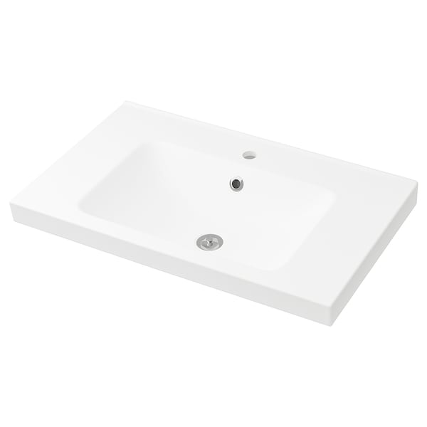 ODENSVIK Single wash-basin, 83x49x6 cm