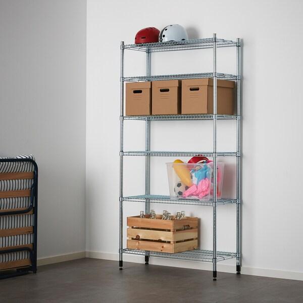OLAUS 1 shelf section, 92x36x181 cm
