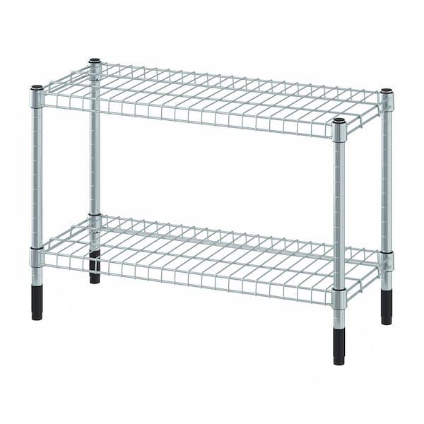 OLAUS Shelving unit, galvanised, 60x25x40 cm