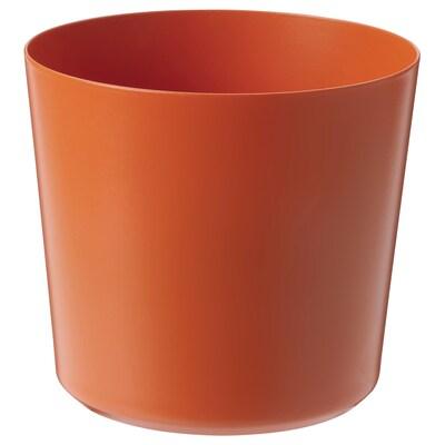 OMFÅNG وعاء نباتات, داخلي/خارجي برتقالي, 9 سم