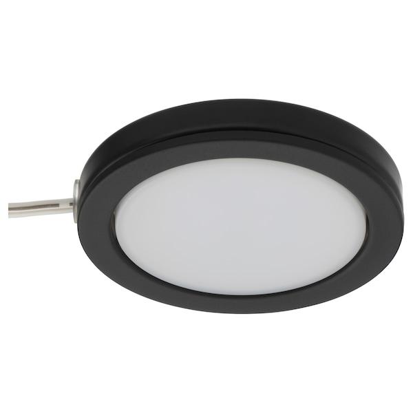 OMLOPP مصباح موجّه LED, أسود, 6.8 سم