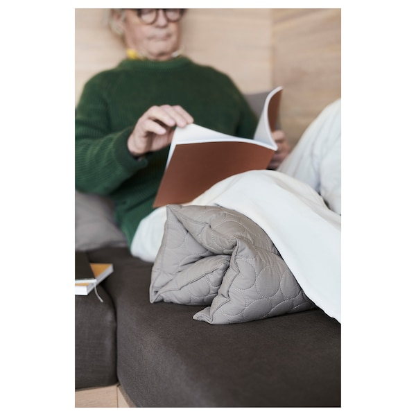 OMTÄNKSAM Multi cushion, grey, 50x75 cm