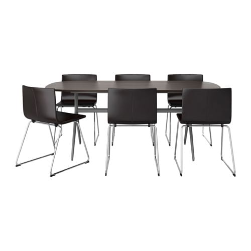 Oppeby oppmanna bernhard table and 6 chairs ikea for Table cuisine 6 personnes