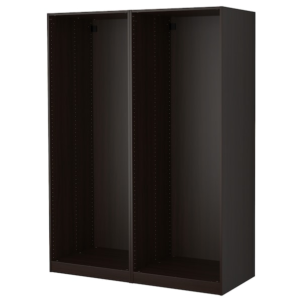 PAX 2 wardrobe frames, black-brown, 150x58x201 cm