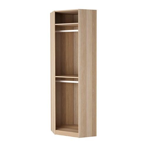 pax corner section frame white stained oak effect ikea. Black Bedroom Furniture Sets. Home Design Ideas