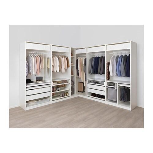 Pax Corner Wardrobe White
