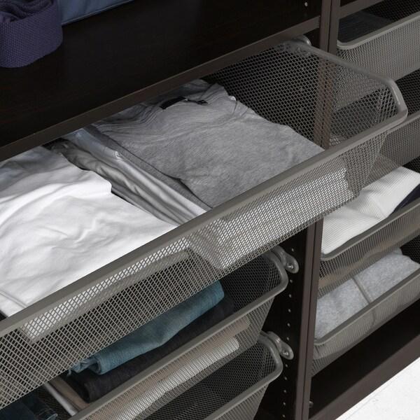 PAX دولاب ملابس, أسود-بني/Forsand مظهر الدردار أسود-بني, 150x60x236 سم