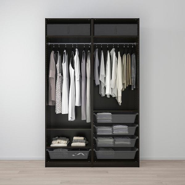 PAX دولاب ملابس, أسود-بني/Mehamn مظهر الدردار أسود-بني, 150x66x236 سم