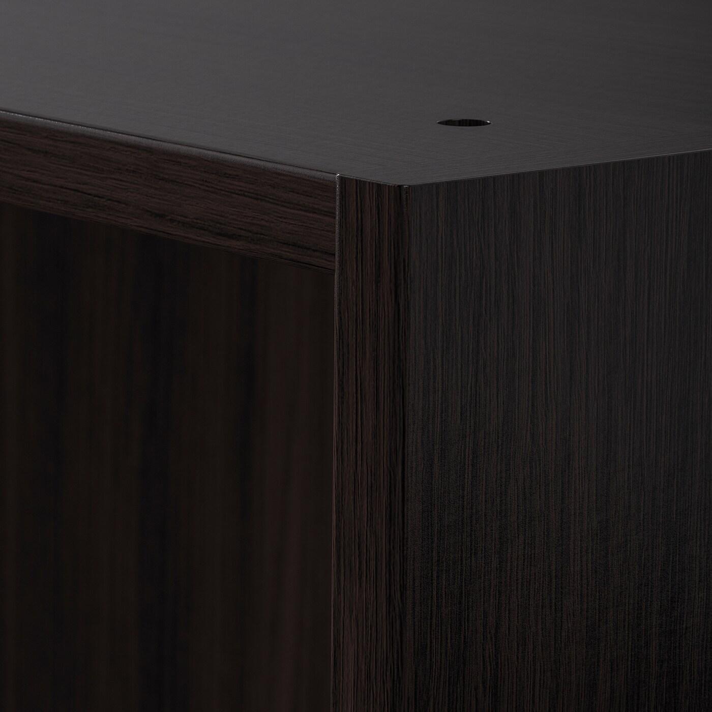 PAX Wardrobe frame, black-brown, 100x58x201 cm