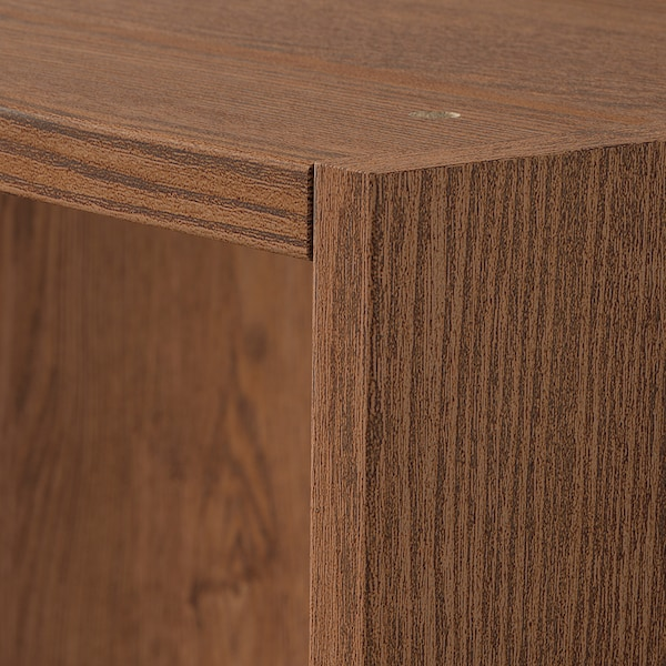 PAX Wardrobe frame, brown stained ash effect, 75x58x236 cm