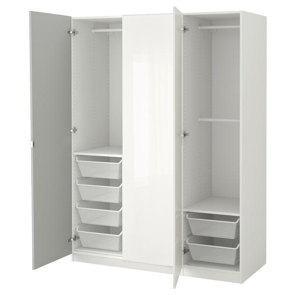 PAX دولاب ملابس, أبيض/Fardal Vikedal, 150x60x201 سم