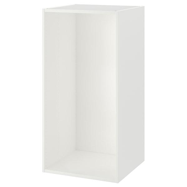 PLATSA هيكل, أبيض, 60x55x120 سم