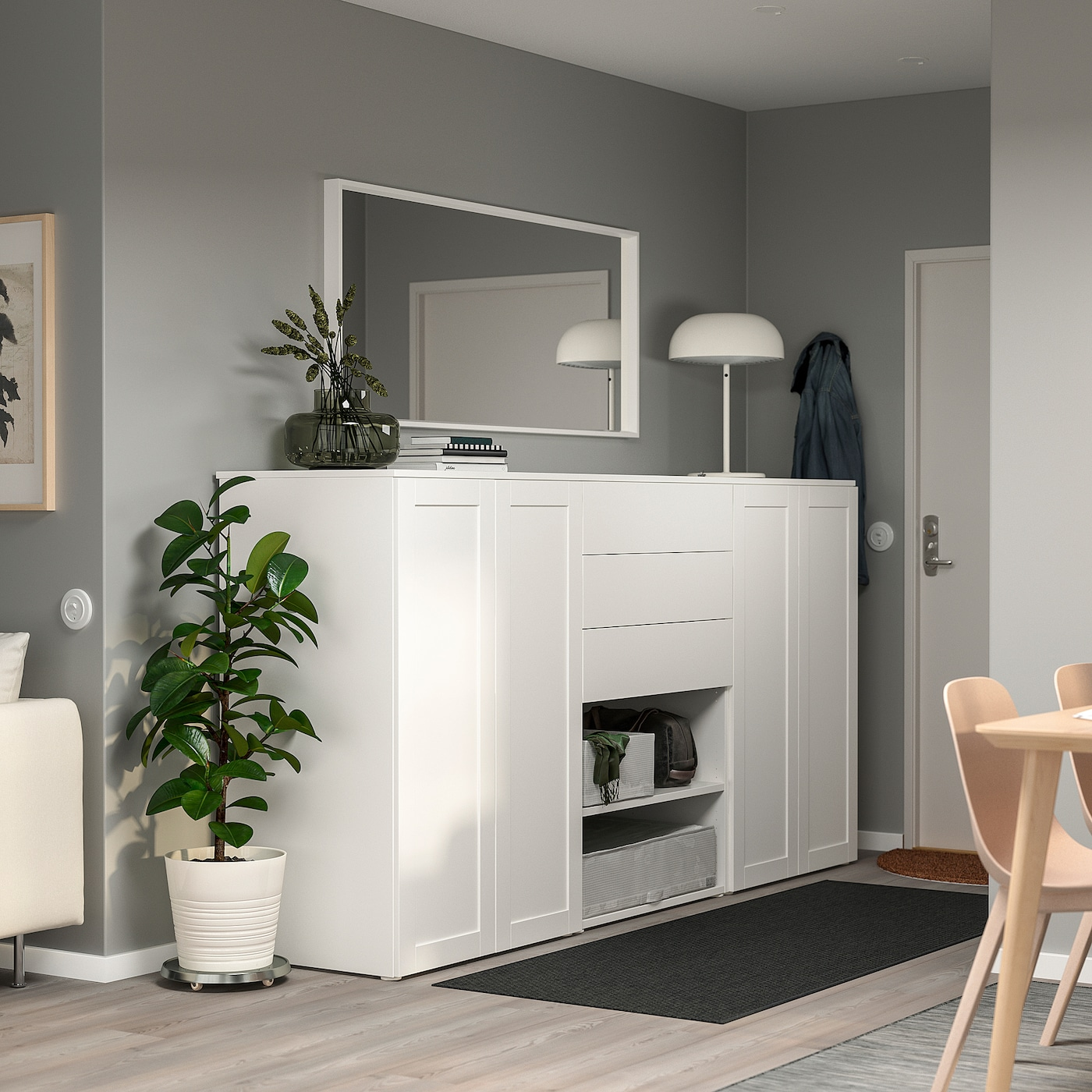 PLATSA دولاب ملابس, أبيض/Fonnes Sannidal, 240x57x123 سم