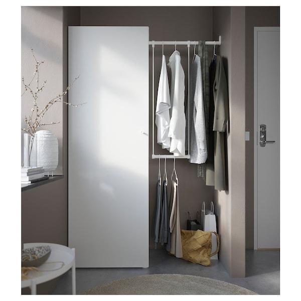 PLATSA دولاب ملابس, أبيض/Fonnes أبيض, 95-120x42x181 سم