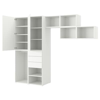 PLATSA دولاب ملابس مع بابين + 3 أدراج., Fonnes أبيض, 300x57x241 سم