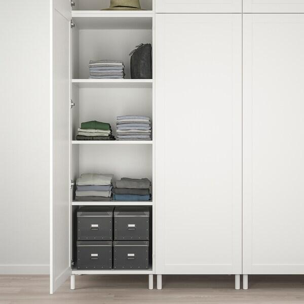 PLATSA خزانة ملابس 9 أبواب, أبيض Sannidal/أبيض, 300x57x271 سم