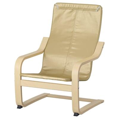 POÄNG هيكل كرسي بذراعين للأطفال, قشرة بتولا
