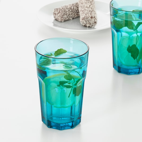 POKAL glass turquoise 14 cm 35 cl