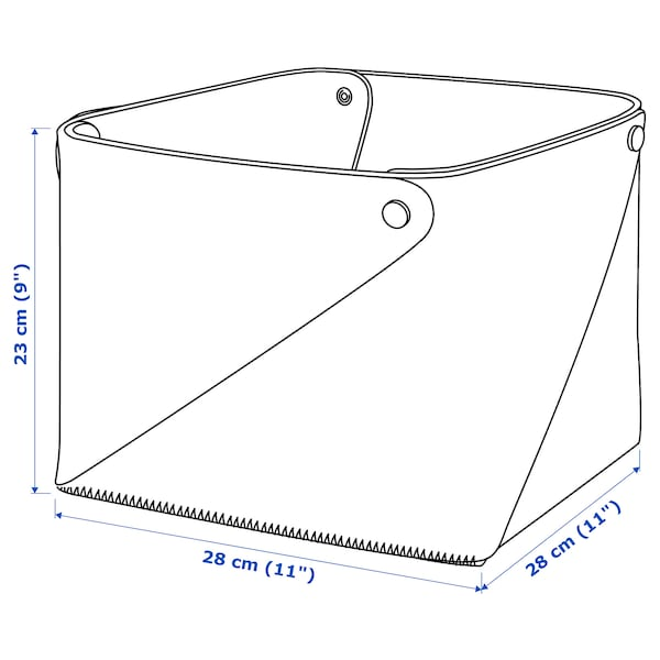 PUDDA Basket, 28x28x23 cm