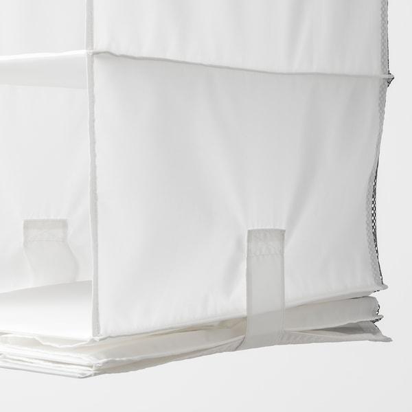 RASSLA Storage with 5 compartments, white, 25x40x98 cm