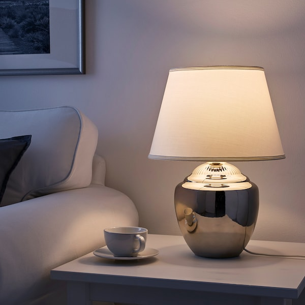 RICKARUM Table lamp, silver-colour, 47 cm
