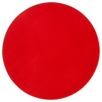 RISGÅRDE Rug, low pile, red, 70 cm