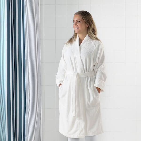 ROCKÅN Bath robe, white, L/XL