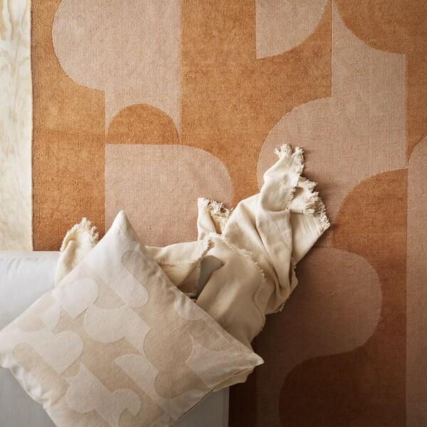 RÖDASK غطاء وسادة, بيج, 50x50 سم