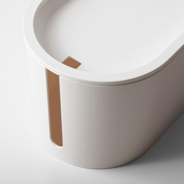 ROMMA صندوق تحكم في الأسلاك مع غطاء, أبيض